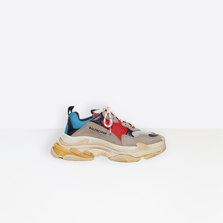 Balenciaga Triple S Blue/ Gris / Red / Black.