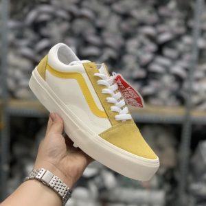 sỉ giày vans da rep phối vàng